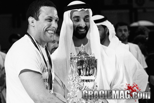 Renzo Gracie and Sheik Tahnoon. Photo by Luca Atalla