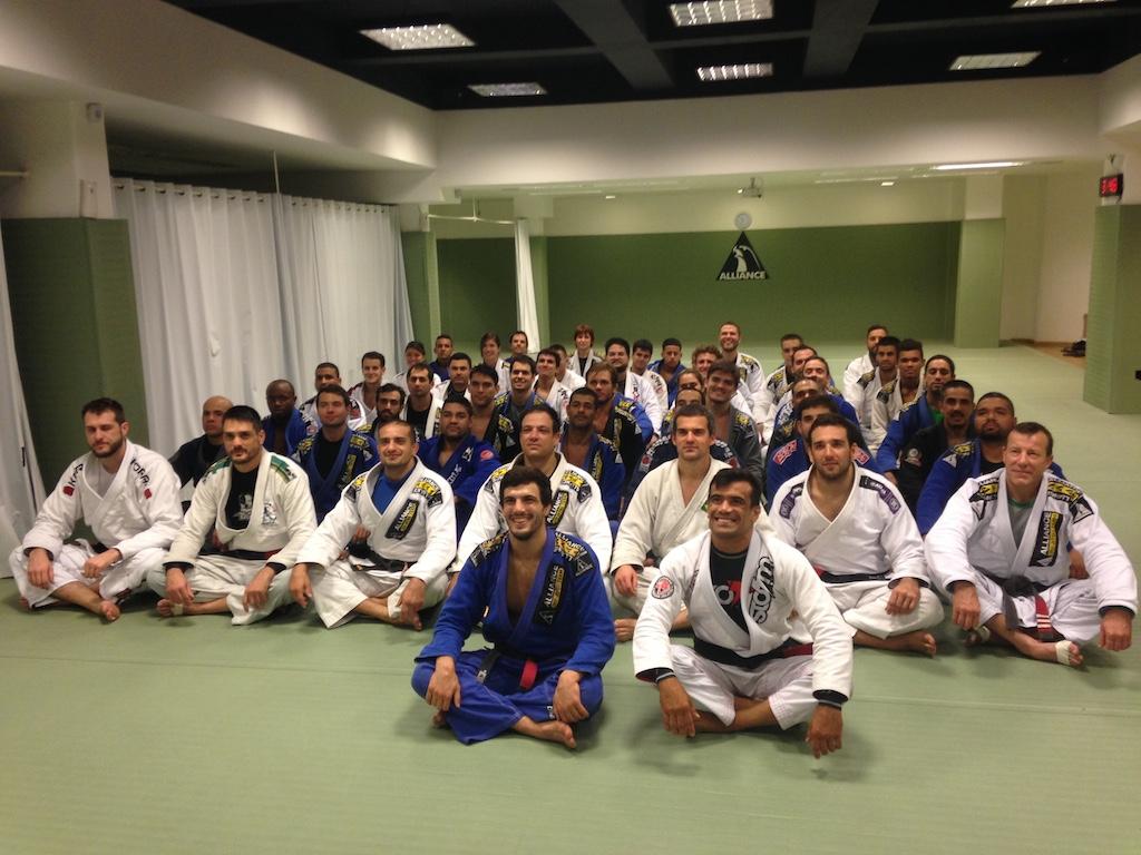 Seminario de Rubens Charles Cobrinha na Alliance Rio em setembro Foto GRACIEMAG
