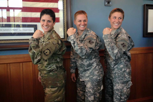 Major Lisa Jaster, third female to complete Army Ranger school, is a BJJ blue belt