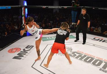 Lu Pereira esteve no camp de Claudinha Gadelha para o UFC. Foto: Felipe Fiorito/Divulgação