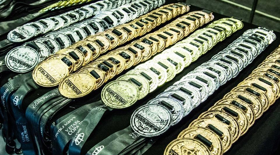 Medalhas da Etapa Prime, no Rio Grande do Sul. Foto: Divulgação