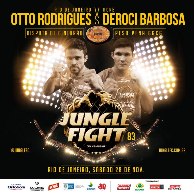 Otto e Deroci fazem a luta principal pelo cinturão 66kg. Foto: Divulgação