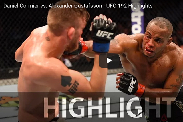 UFC 192: watch the highlights of Cormier vs. Gustafsson