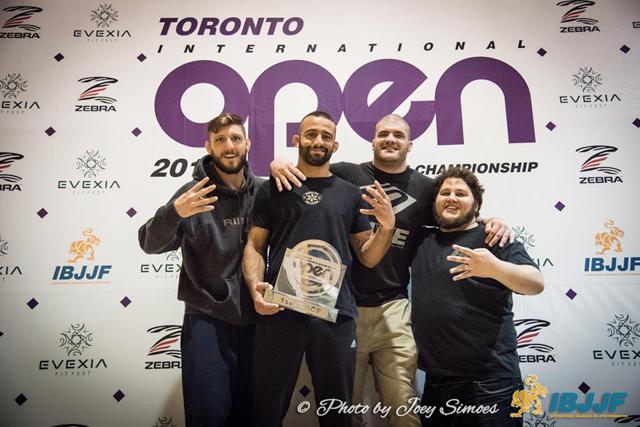 Toronto BJJ team at the podium