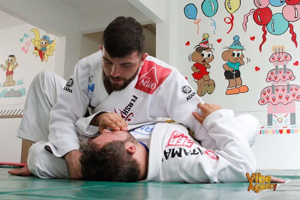 Allan di Lucia no projeto Jiu-jitsu sem limites