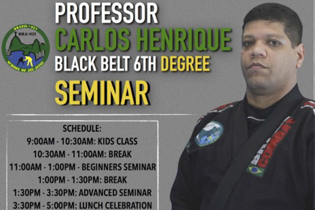Catch a seminar with Brazil 021's black belt Carlos Henrique, Dec. 19, in Chicago