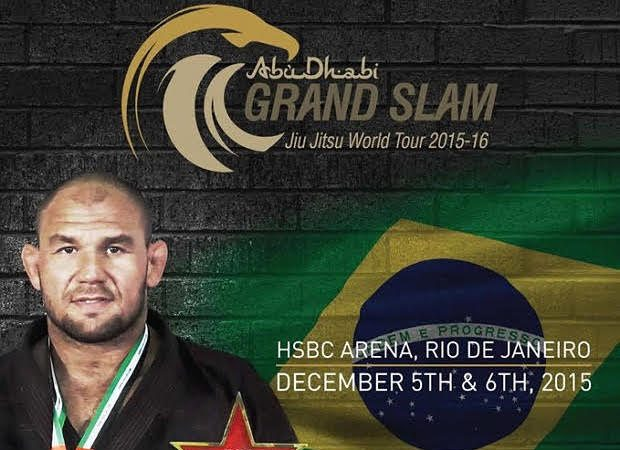 Cartaz do Grand Slam de Jiu Jitsu com Roberto Cyborg
