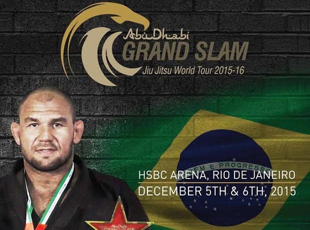 Cartaz do Grand Slam de Jiu Jitsu com Roberto Cyborg