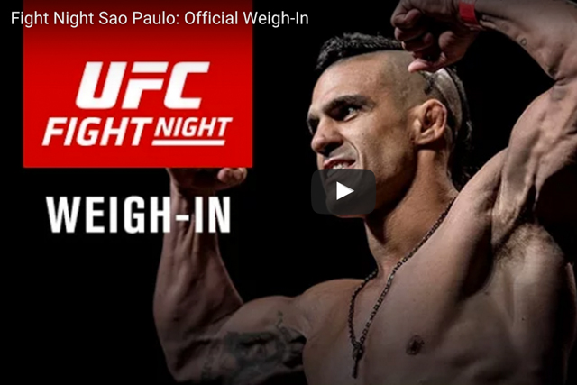 Missed the weigh-in for UFC Fight Night São Paulo? Watch it here