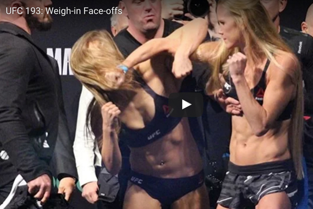 Watch: Rousey, Holm face-off heats up prior to UFC 193