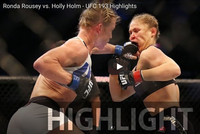 UFC 193: watch the highlights of Rousey vs. Holm and also Holm's emotional interview after the fight
