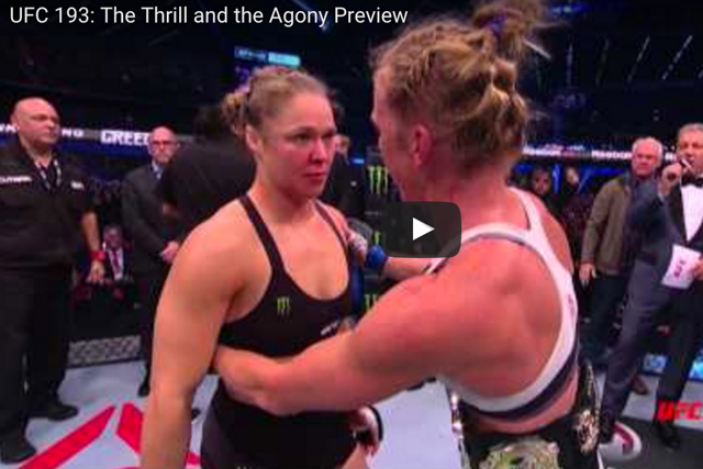 Watch new backstage footage of Holm, Rousey after UFC 193 main event