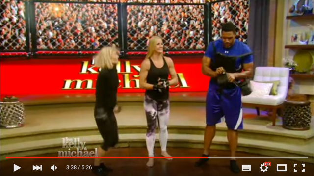 Watch: Holly Holm shows Michael Strahan how she knocked out Ronda Rousey