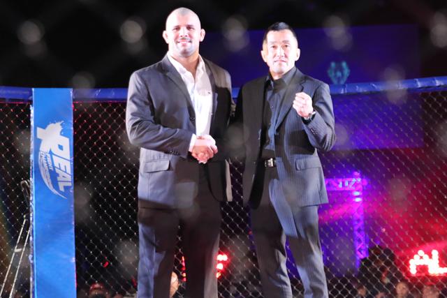 Rodolfo Vieirain the Real Fight Championship cage. Photo: Kinya Hashimoto/Jiu-Jitsu Nerd