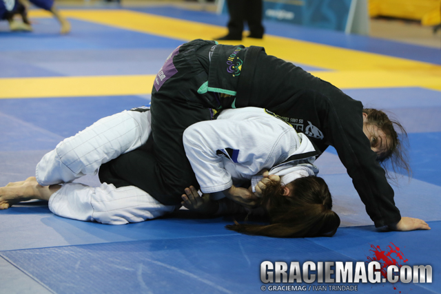 Sarah Blackbjj beat Kiri Liao 5-0 for the adult black belt lightweight title.
