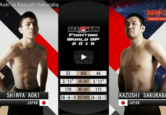 Watch how Shinya Aoki beat Kazushi Sakuraba in the main event of Rizin FF – Saraba
