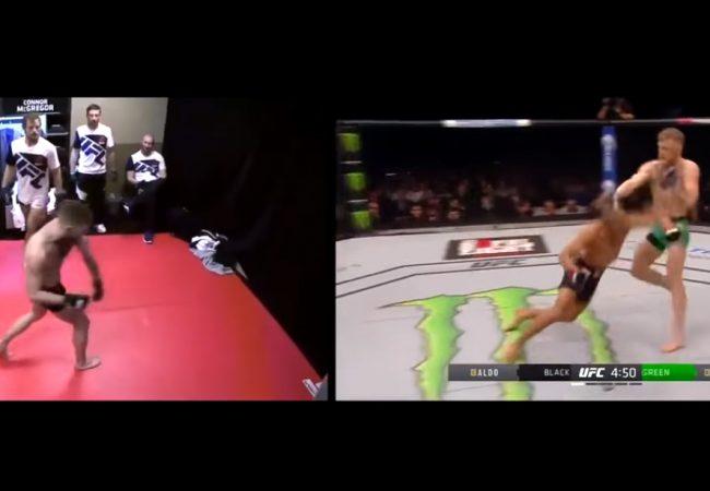 Vídeo: McGregor ensaia, no vestiário, o soco que nocauteou Aldo no UFC 194