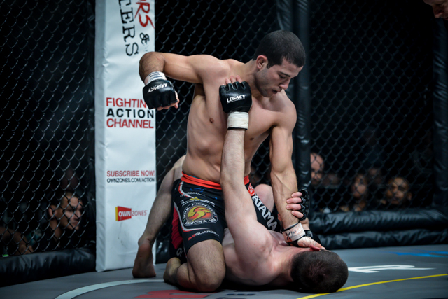 Tanquinho fighting at Legacy FC. Photo: Mike Calimbas