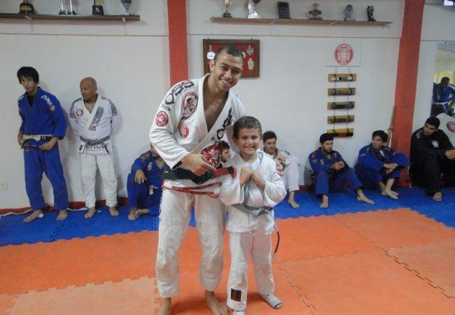 Matheus Zimmermann e o sobrinho Pietro
