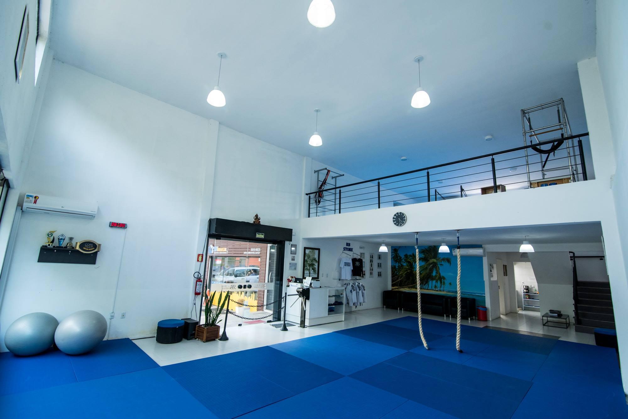 As instalações da RB Jiu-Jitsu em Canoas: nosso GMI oferece inclusive Jiu-Jitsu de graça no fim de semana.