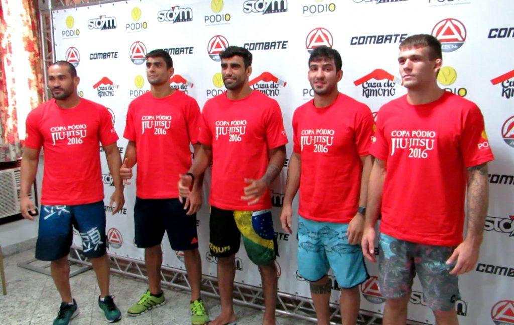 Davi Ramos, Felipinho Silva, Leandro Lo, Lucas Lepri e AJ Souza formam o grupo verde da disputa. Foto: Reprodução