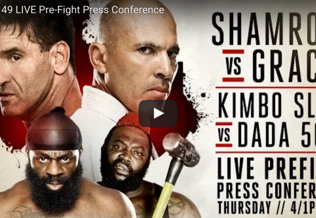 Watch live the press conference for Bellator 149: Shamrock vs. Gracie at 4PM/1PM (ET/PT)