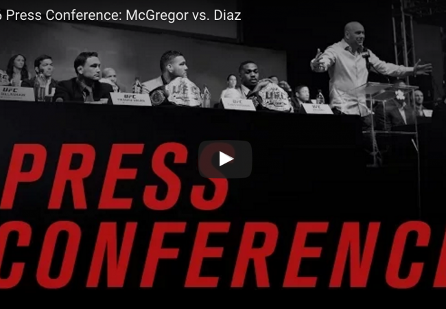 UFC 196: watch a live press conference with McGregor and Diaz at 4PM/1PM (ET/PT)