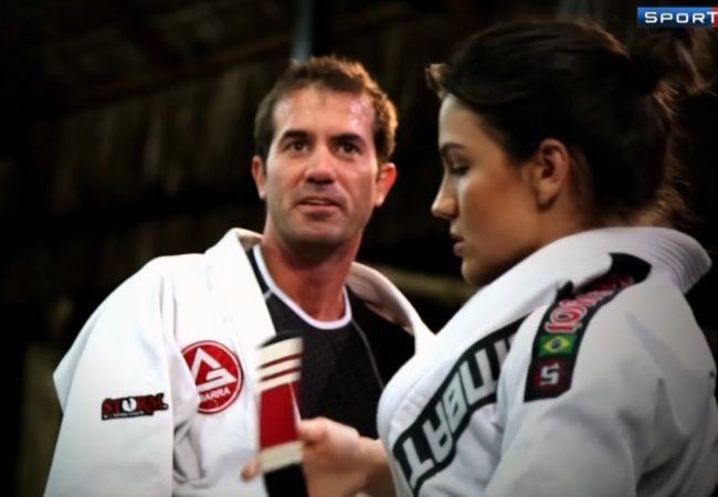 """Veja o """"faixa-preta no skate"""" Bob Burnquist treinando Jiu-Jitsu com Kyra Gracie"""