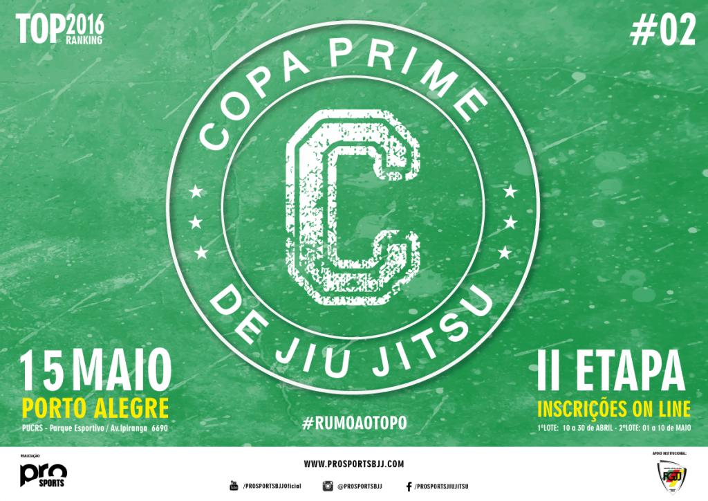 Banner oficial da 2ª etapa da Copa Prime.