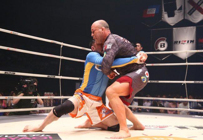 Vídeo: Confira Wanderlei Silva x Kazushi Sakuraba em duelo de grappling no Rizin