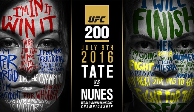 Miesha Tate to make first title defense against Amanda Nunes at UFC 200
