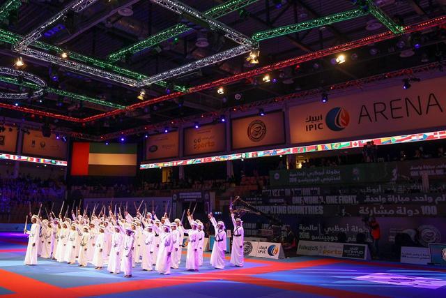 Cerimônia de abertura em Abu Dhabi. Foto: UAEJJF/Divulgação