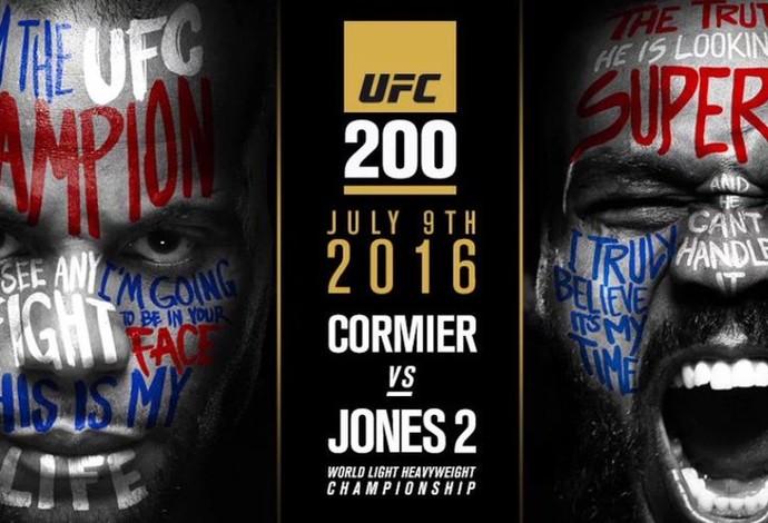 Banner que anuncia a luta principal do UFC 200, entre Cormier e Jones. Foto: Reprodução