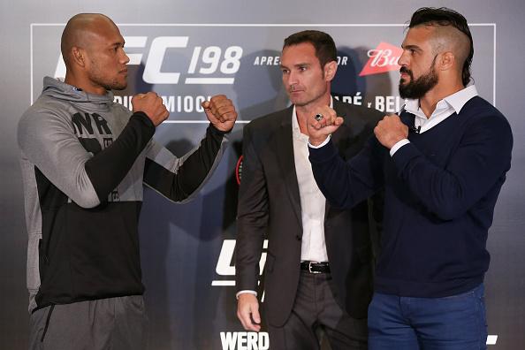 Vídeo: Confira as primeiras encaradas do UFC 198, em Curitiba