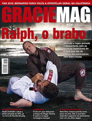 Nossa capa com Ralph Gracie, nas melhores brancas de revista do Brasil. Fotos: Gustavo Aragão