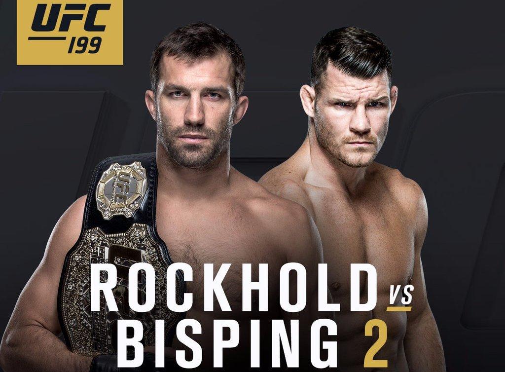 Banner de divulgação para a revanche entre Rockhold e Bisping. Foto: Reprodução