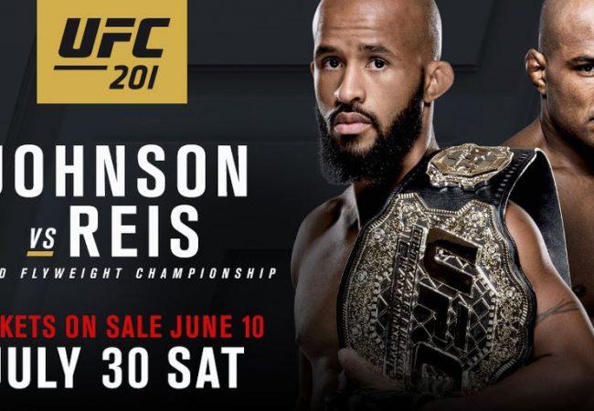 Wilson Reis encara Demetrious Johnson por cinturão no UFC 201