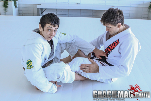 Stop motion Miyaos: a back take and a leg lock with Paulo and João