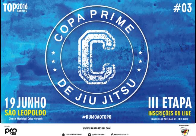 Inscrições para III Etapa da Copa Prime se encerram nesta terça