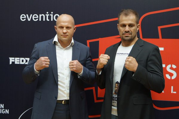 Vídeo: A encarada de Fedor e Maldonado na pesagem do Fight Nights