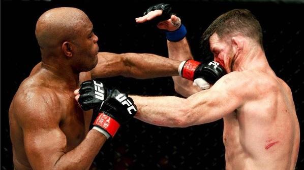 Anderson Silva em seu mais recente duelo, contra Bisping, no UFC. Foto: Reprodução