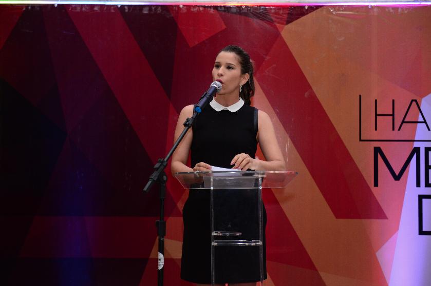 Linda Carvalho apresentou o HLVC Awards. Foto: Divulgação