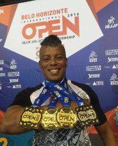 Karlona fez a final de todas as categorias que disputou no BH Open. Foto: Arquivo Pessoal