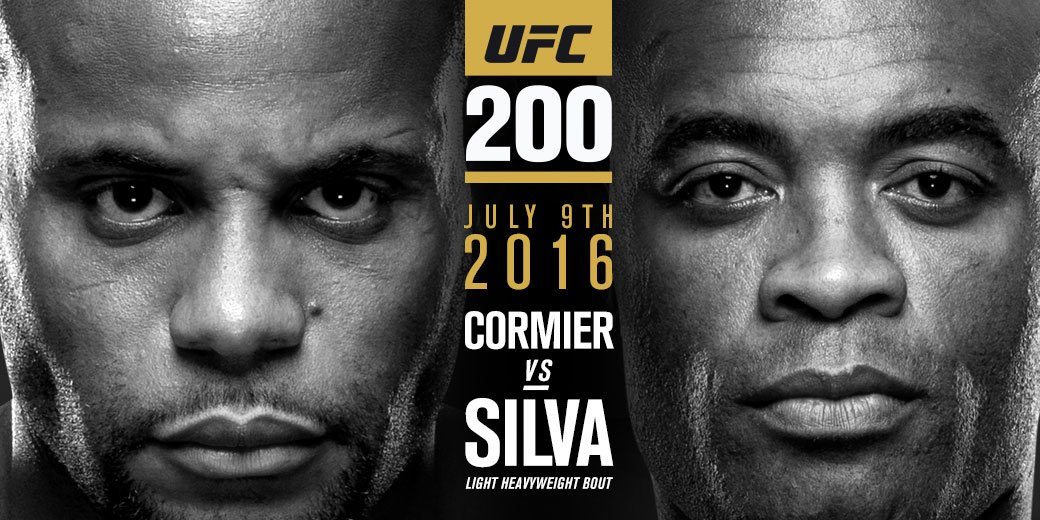 Banner do UFC para o duelo entre Daniel Cormier e Anderson Silva. Foto: Reprodução