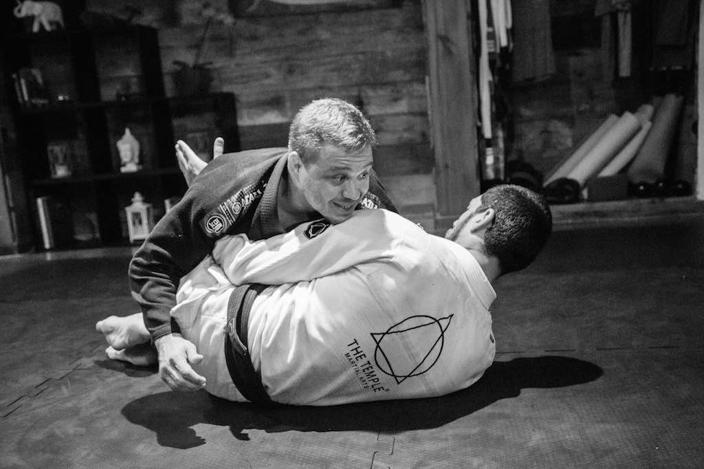 Vinicius Cruz ensina em seminario de Jiu Jitsu na academia The Temple Foto Marcelle Rosenthal