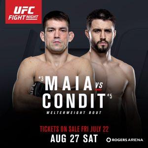 Os craques do peso meio-médio do UFC se enfrentam no dia 27, em Vancouver. Foto: Divulgação