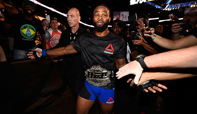 Tyron Woodley get a quick knockout win over Robbie Lawler at UFC 201; New welterweight champ calls for GSP or Nick Diaz