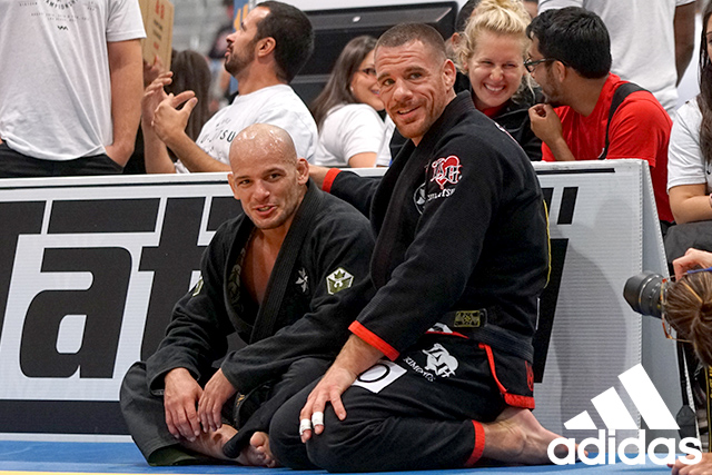 Xande Ribeiro and Rafael Lovato Jr. celebrate their performances at the World Master Championship 2016