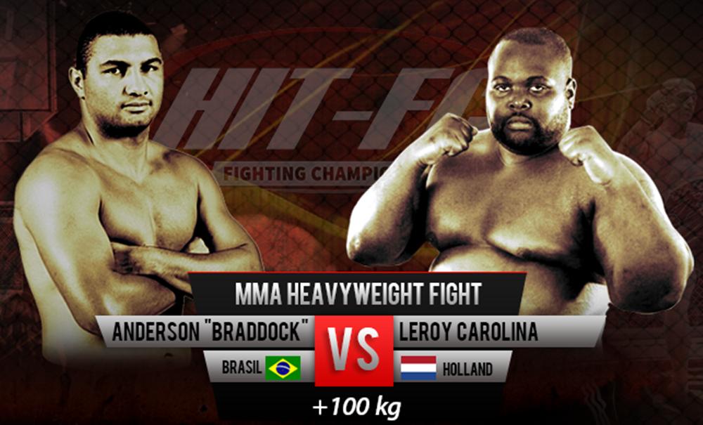 Anderson Braddock encara Leroy Carolina em luta de pesos pesados. Foto: Divulgação