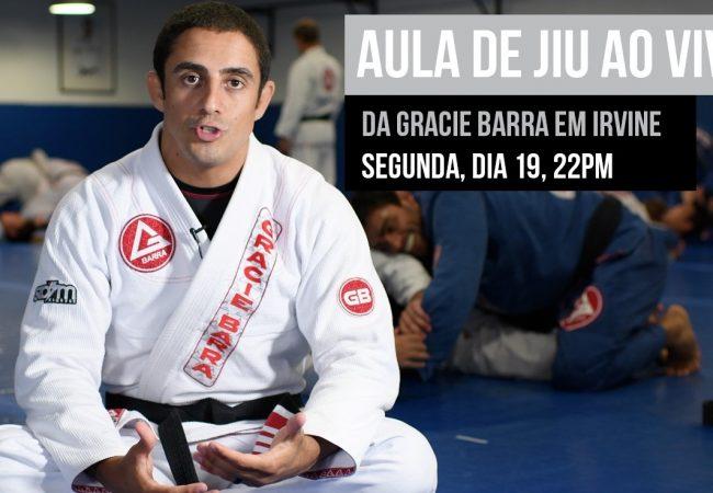 Ao vivo: Assista à aula de Jiu-Jitsu avançado da Gracie Barra Irvine